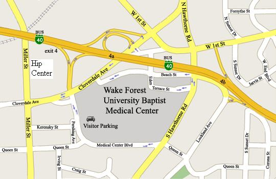 Wake Forest University Hip Center Directions